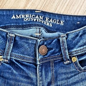American Eagle Outfitters Jeans - AEO AMERICAN EAGLE DARK BLUE JEANS BOOT CUT SIZE 2